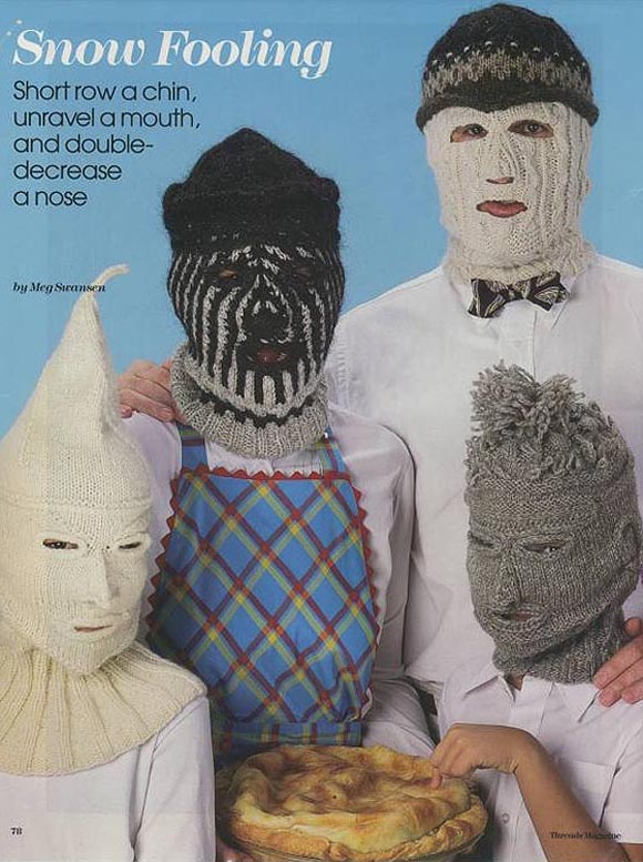 Crazy knit masks