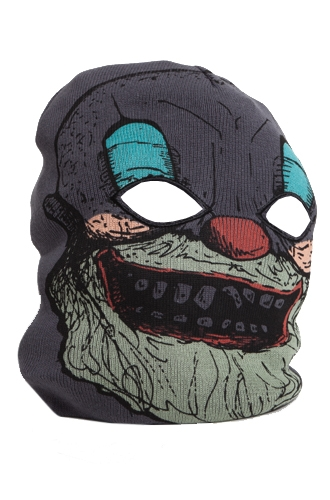 Scary clown ski mask
