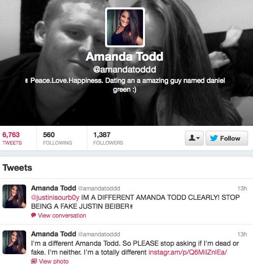 Amanda Todd Twitter