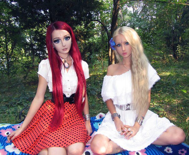 Anime Girl and Barbie Girl Picnic