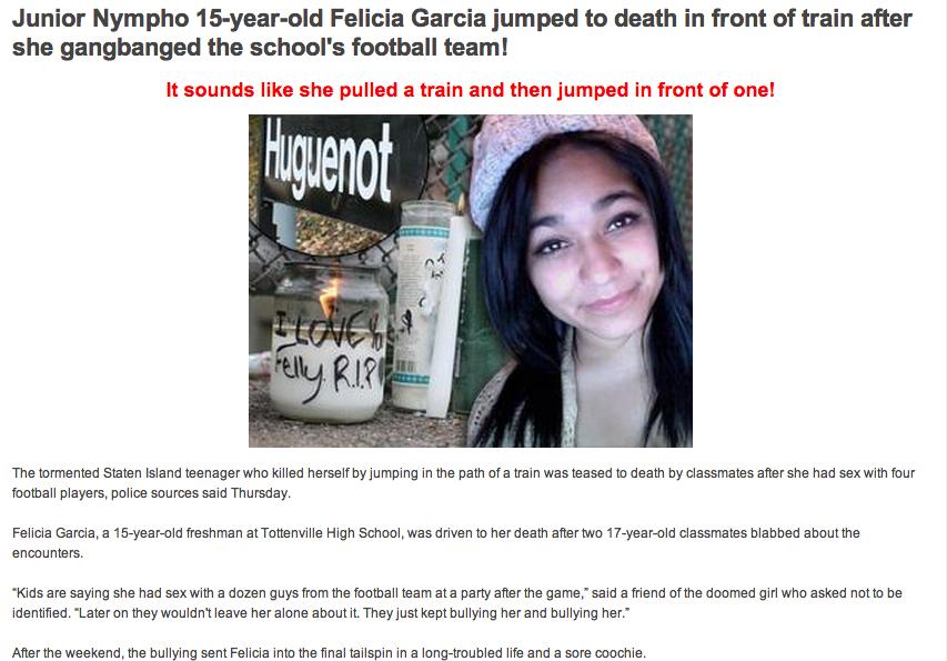 Felicia Garcia Suicide