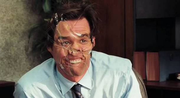 Jim Carey Scotch Tape Face Costume Plastic Surgery