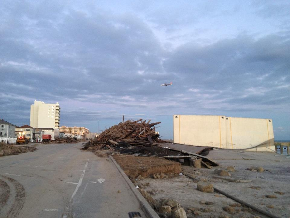 Boardwalk after Sandy Rockaways