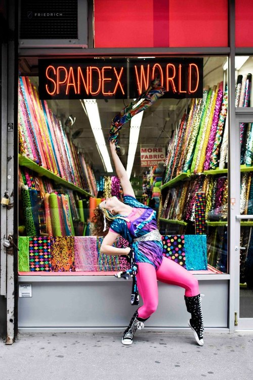 Spandex World, by Kate Reeder