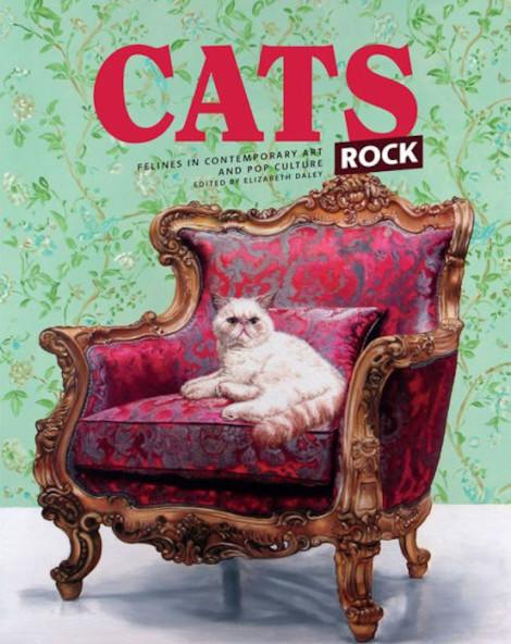 Cats Rock by Elizabeth Daley Felines in Contemporary Art